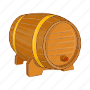 barrel, beer, cartoon, illustration, ring, sign, wooden icon