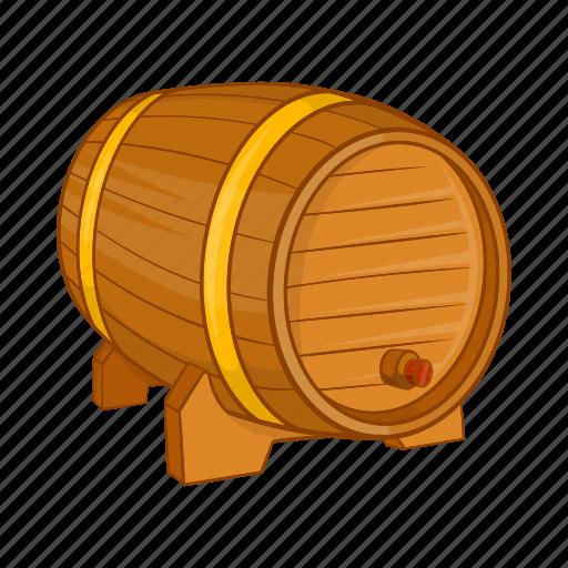 barrel, beer, cartoon, illustration, ring, sign, wooden icon
