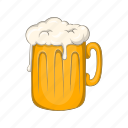 alcohol, beer, cartoon, illustration, mug, pub, sign icon