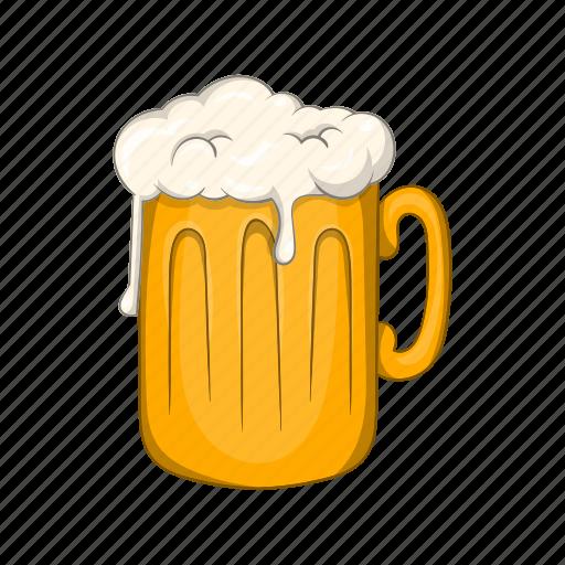 alcohol, beer, cartoon, illustration, mug, pub, sign icon