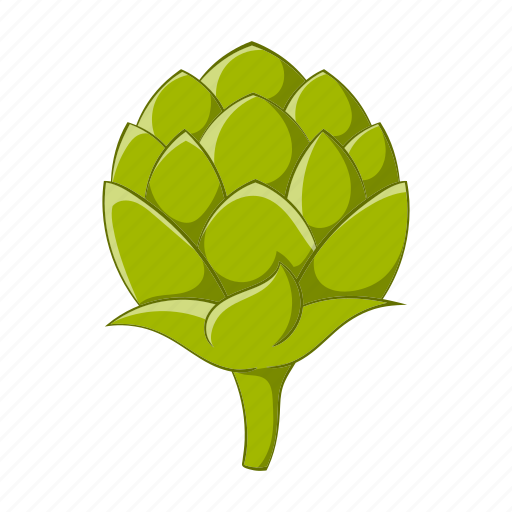 cartoon, green, hops, illustration, plant, seeds, sign icon