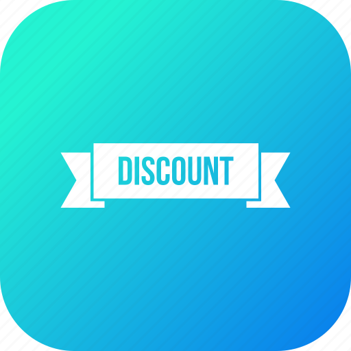 discount, gift, offer, ribbon, sale, sell, voucher icon