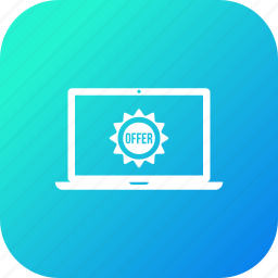 discount, laptop, offer, sale icon