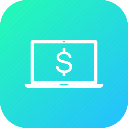 discount, dollar, laptop, money, offer, sale icon