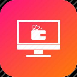 cash, discount, laptop, money, offer, sale, wallet icon