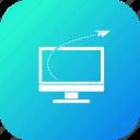 desktop, discount, goal, monitor, offer, rocket, sale