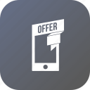 discount, mobilephone, offer, sale, smartphone icon