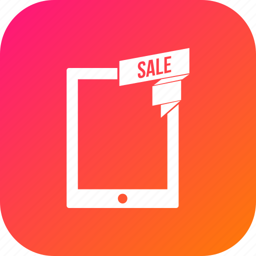 discount, offer, sale, tab, tablet icon