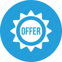 circle, discount, less, offer, ribbon, sale icon