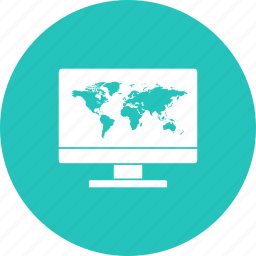 discount, lapy, map, offer, sale, world icon