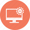 monitor, offer, sale, desktop, discount, lcd icon
