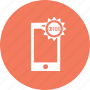 discount, offer, smartphone, sale, mobilephone icon