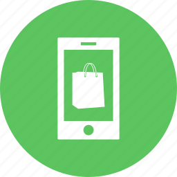 bag, discount, mobilephone, offer, sale, shopping, smartphone icon