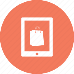 bag, discount, offer, sale, shopping, tab, tablet icon