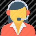 call center, customer representative, customer service, customer support, female