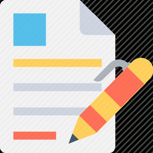 document, pen, resume, write resume, writing icon