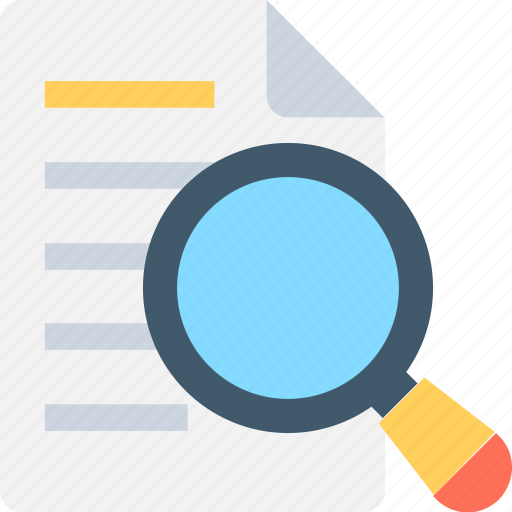 File scanning, magnifier, search document, search file, search page icon - Download on Iconfinder