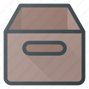 archive, box, contain, office icon