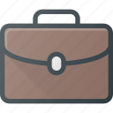 brief, case, document, lugadge, office icon