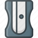 office, pencil, sharpener, sharper, tool icon