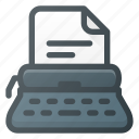 keyboard, office, type, typewriter, writer icon
