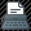 keyboard, office, type, typewriter, writer