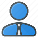business, office, person, suite, user icon