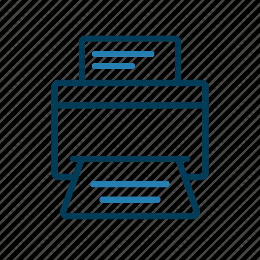 office, output, printer, technique icon
