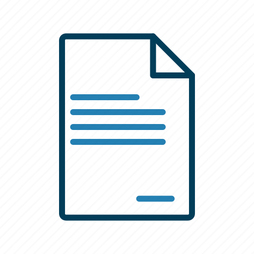 document, office, paper, report icon