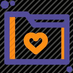 favorite, file, folder, heart, like icon