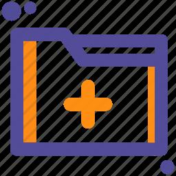 add, file, folder, plus icon