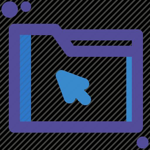 cursor, file, folder, mouse, selected icon