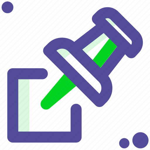 holder, paper, pin, tack, thumbtack icon
