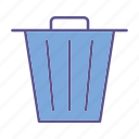 documents, garbage, office, trash icon