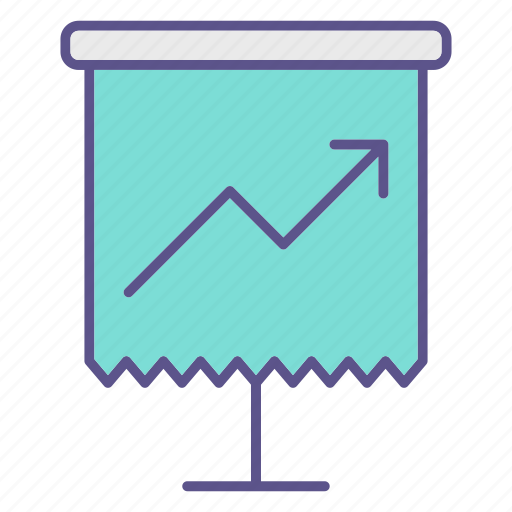 chart, documents, growth, office icon