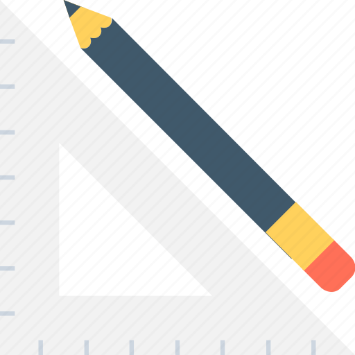 degree square, geometry, pencil, set square icon