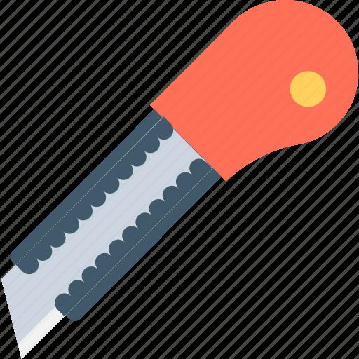 box cutter, cutter, cutter tool, paper cutter, pocket knife icon
