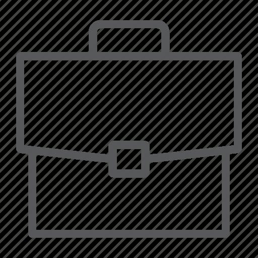 bag, briefcase, handle, office, portfolio, work icon
