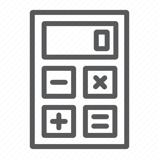 business, calculator, electronic, finance, office, web, work icon