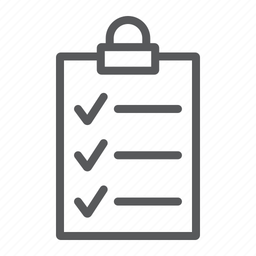 board, check, clipboard, list, note, office, work icon