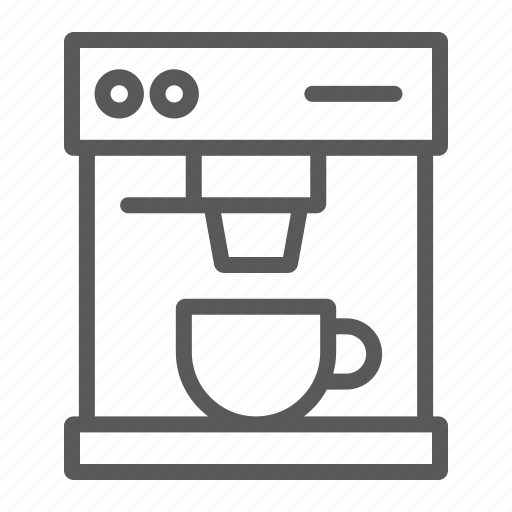 Coffee, cup, drink, espresso, kitchen, machine, maker icon - Download on Iconfinder