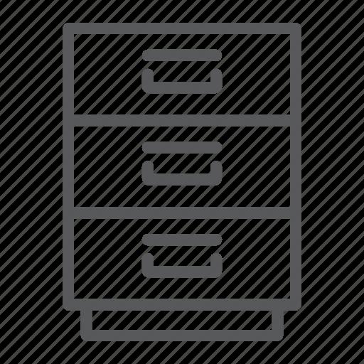 archive, cabinet, file, filling, furniture, office, organize icon