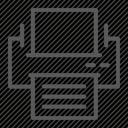Document, fax, machine, office, printer, printout, work icon - Download on Iconfinder