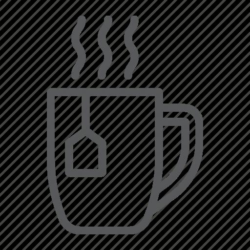 Beverage, breakfast, cup, drink, hot, mug, tea icon - Download on Iconfinder
