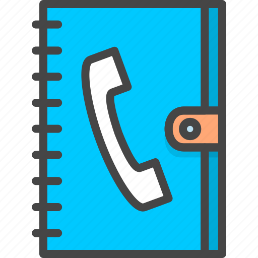 Book, filled, office, outline, phone, service icon - Download on Iconfinder