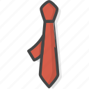 filled, men, neck, office, outline, service, tie icon