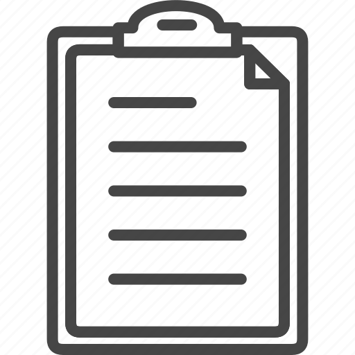 document, file, folder, line, office, outline, service icon