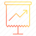 chart, growth, office, statistics icon