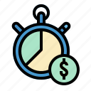 chronometer, stopwatch, time, timer, wait icon
