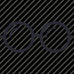eyeglasses, glass, glasses, look, man, view icon